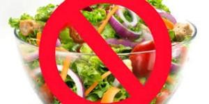 no salad